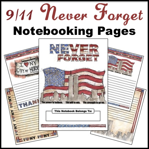 Freebie: 9/11 ~ Never Forget Notebooking Pages