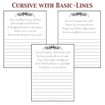 Cursive with Basic-lines