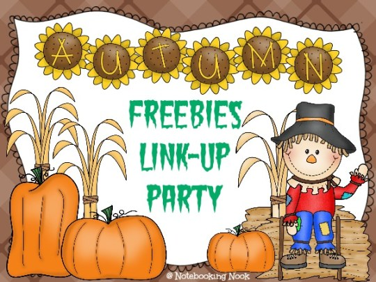 Autumn Freebies Link-up Party @ Notebooking Nook