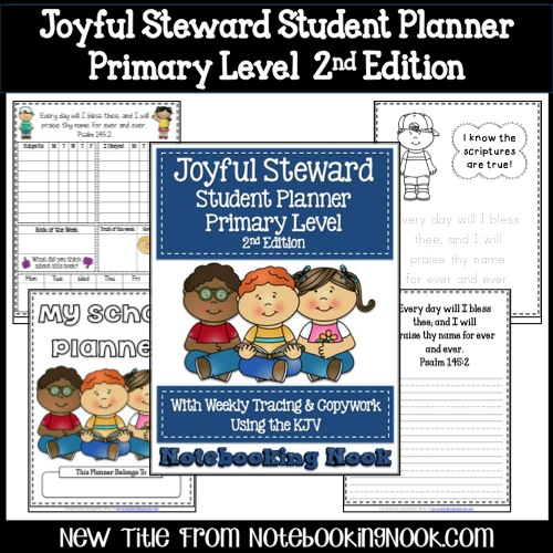 New Title: Joyful Steward Student Planner - Primary Lever 2nd Edition