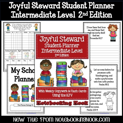 New Title: Joyful Steward Student Planner Intermediate Level 2nd Edition - Intro Price Only $1.99