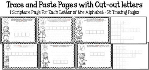 Bible ABC's Trace & Paste Samples