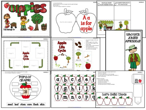Apples Theme Lapbook Samples