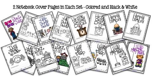 Nursery Rhyme Bundle Samples from Notebooking Nook