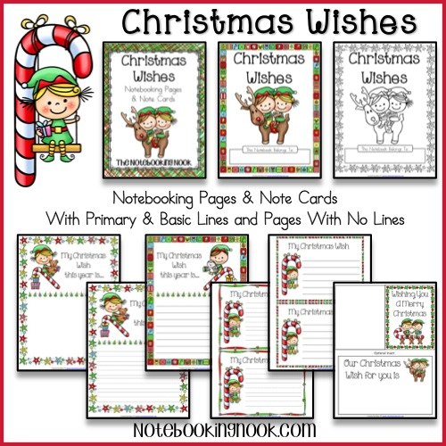 Christmas Wishes Notebooking Pages & Note Cards from Notebooking Nook