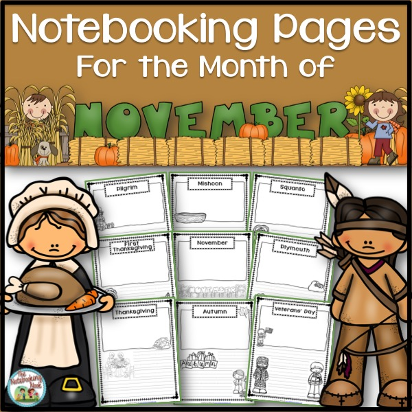 Themed Notebooking Pages for the Month of November