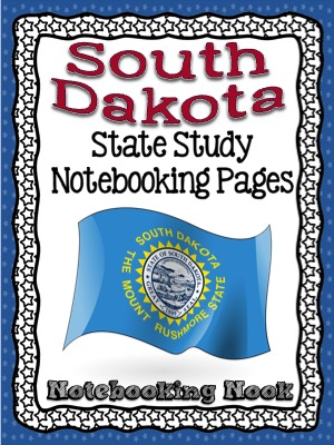 Revised South Dakota State Study Notebooking Pages