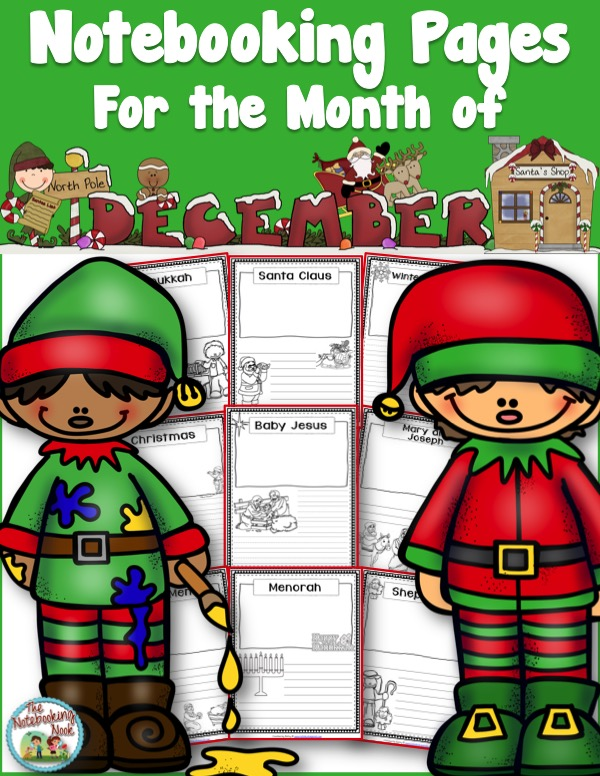 Themed Notebooking Pages for the Month of December