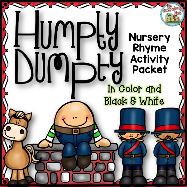 Humpty Dumpty Nursery Rhyme Activity Packet