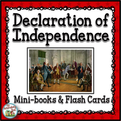Declaration of Independence Mini-books and Flash Cards