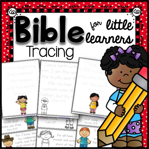 Bible Tracing for Little Learners