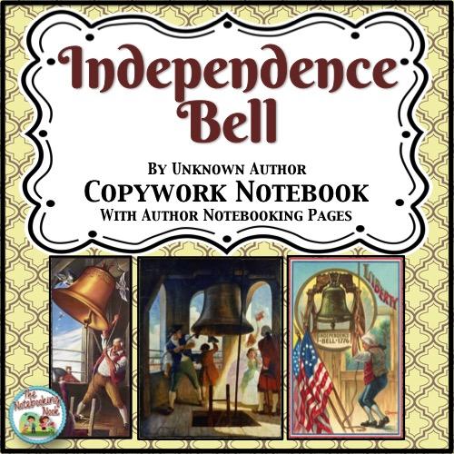 Patriotic Poems: Independence Bell Copywork Notebook