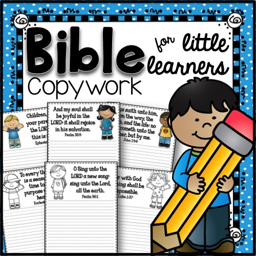 Bible Copywork for Little Learners