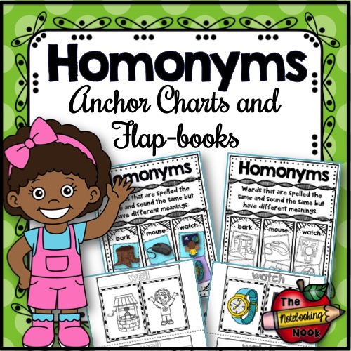 Homonyms Anchor Charts and Flap-books
