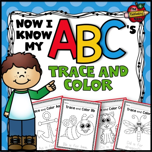 Now I Know My ABC's Trace and Color