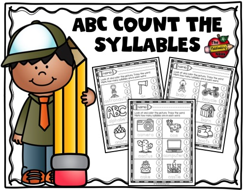 Alphabet Count the Syllables Sample