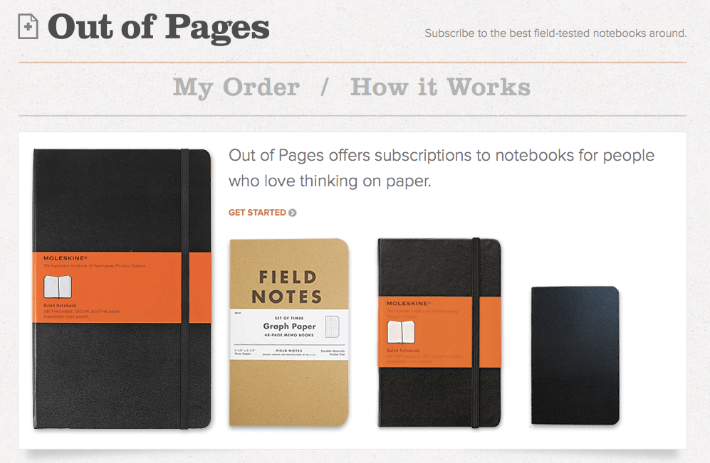 Out of Pages Notebook Subscription Service