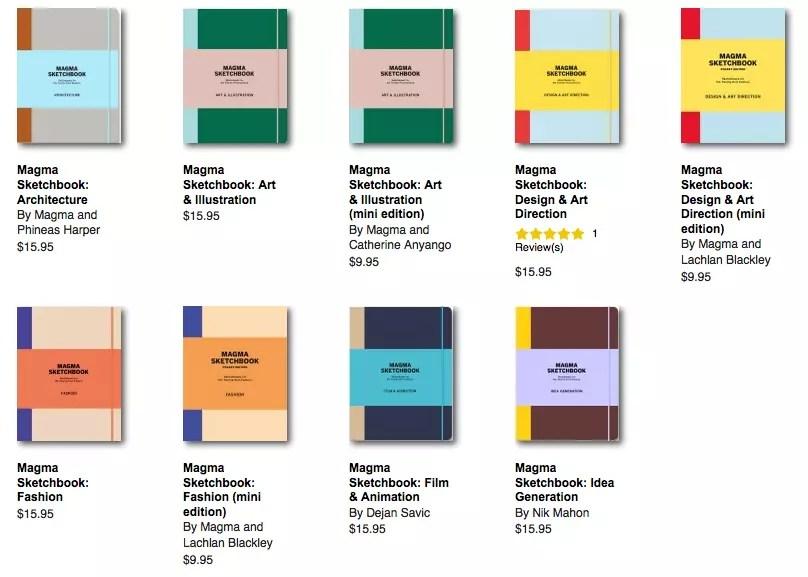 Magma Sketchbooks Notebook Stories