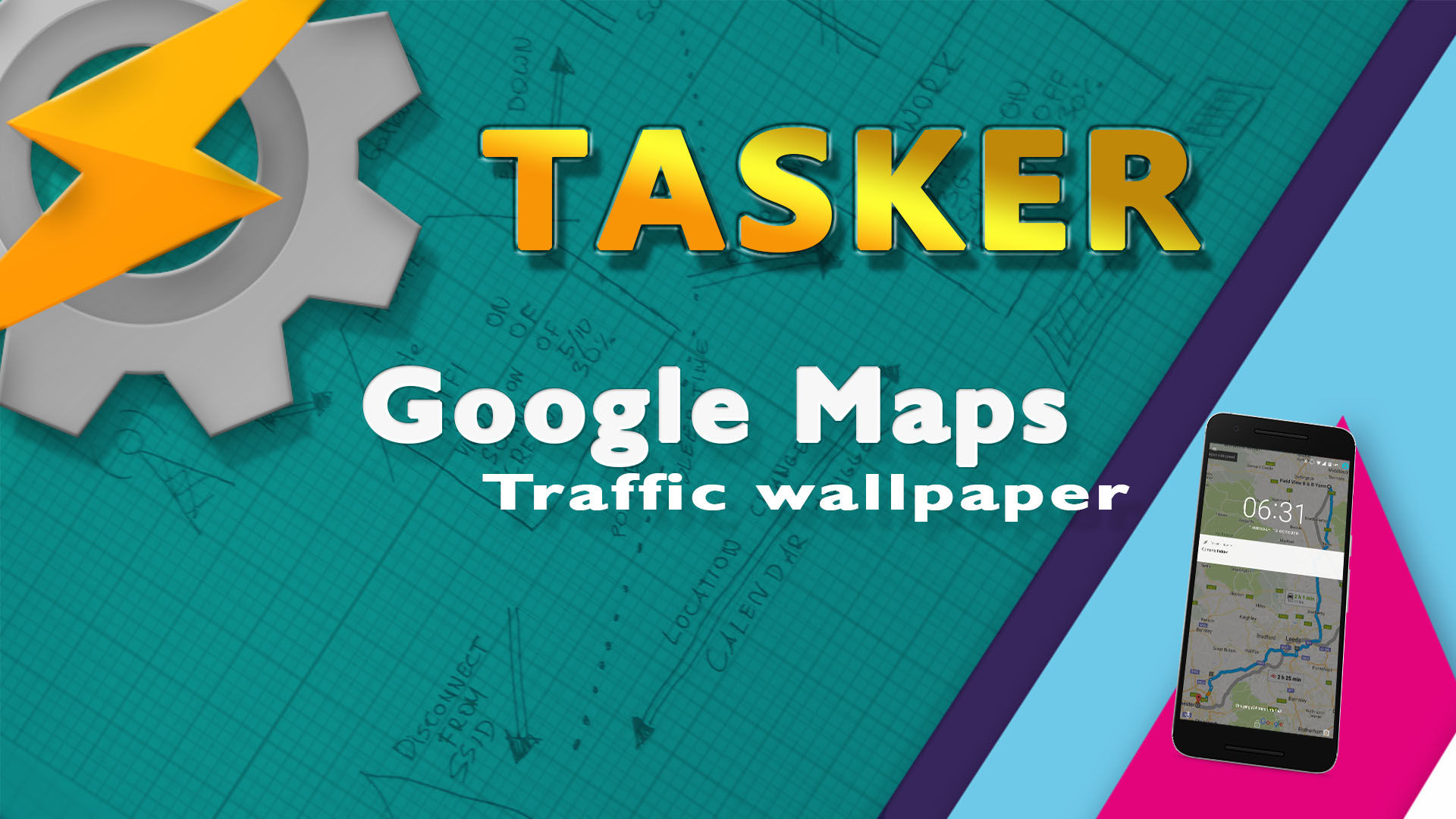 Google Maps traffic wallpaper