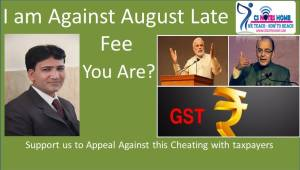 Appeal to GST team PMO and finance Minister waive off august late fee