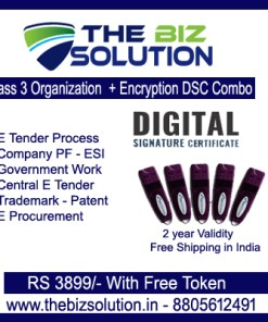 Paperless Class 3 organization Encryption Digital Signature Lowest Price delivery