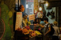 Obstverkäufer in Taksim, Istanbul