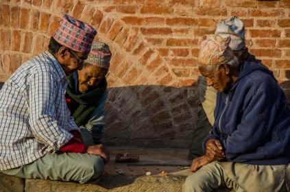 Nepalische Spieler, Bhaktapur