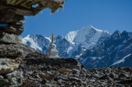 Stupa auf 3.700m, Lang Tang