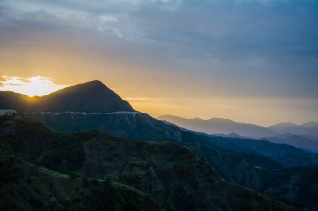 Sonnenaufgang bei der Abreise