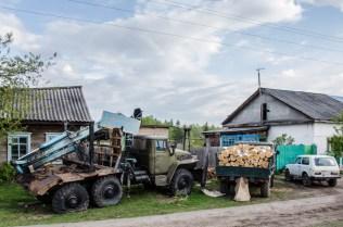 Holzwirtschaft in Sibirien