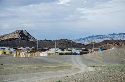 Dorf in der Gobi