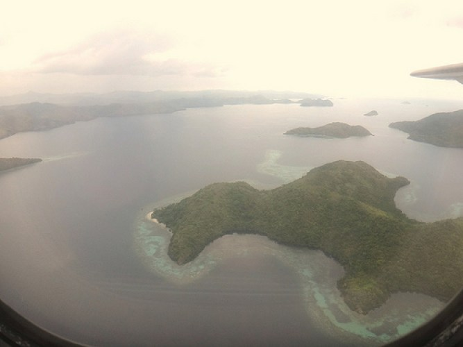 Palawan-view from plane
