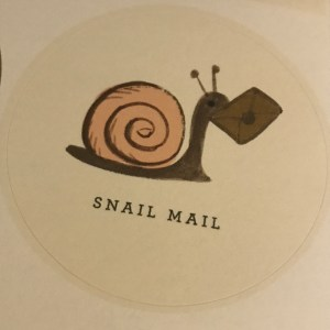 rifle paper co - snail mail sticker
