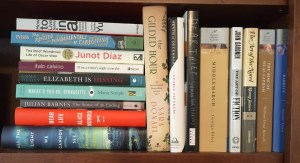 My TBR fiction shelf