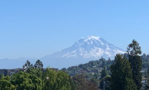 Mount Rainier as seen from the zoo