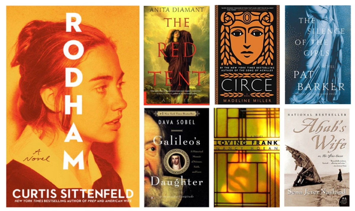 6 Degrees covers: Rodham, The Red Tent, Circe, The Silence of the Girls, Galileo's Daughter, Loving Frank, Ahab's Wife