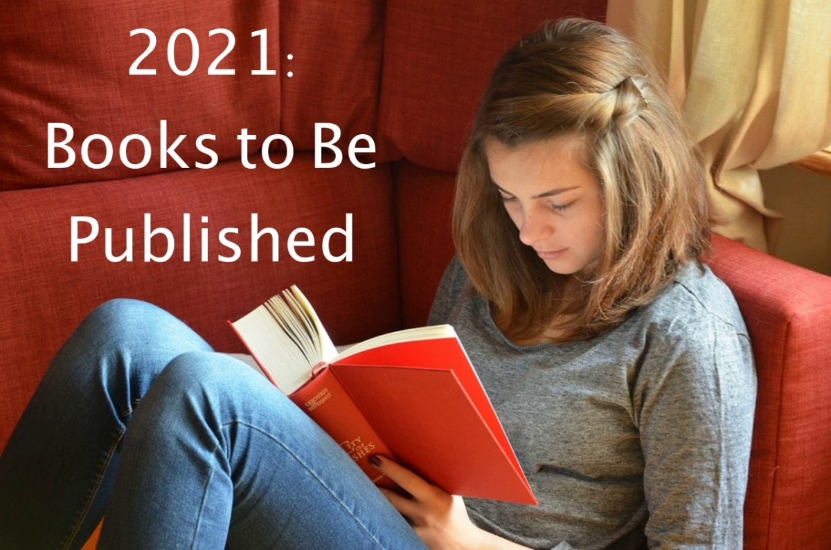 Girl reading. Title: 2021: Books to Be Published