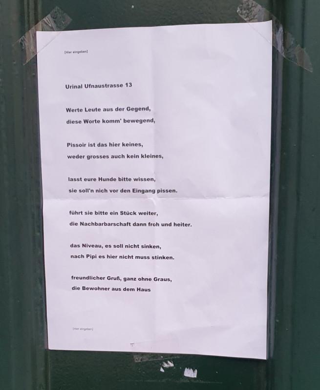 Typisch Berlin Gedicht Fur Die Nachbarschaft