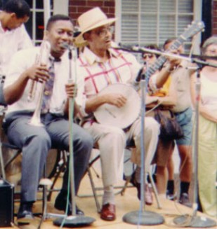 Jazz musicians Kermit Ruffins and Danny Barker...