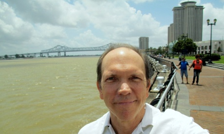 Here is thy humble reporter, Richard Bienvenu, on the banks of the mighty Mississippi.