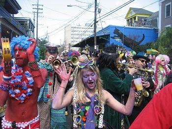 Mardi Gras Day, New Orleans: Krewe of Kosmic D...