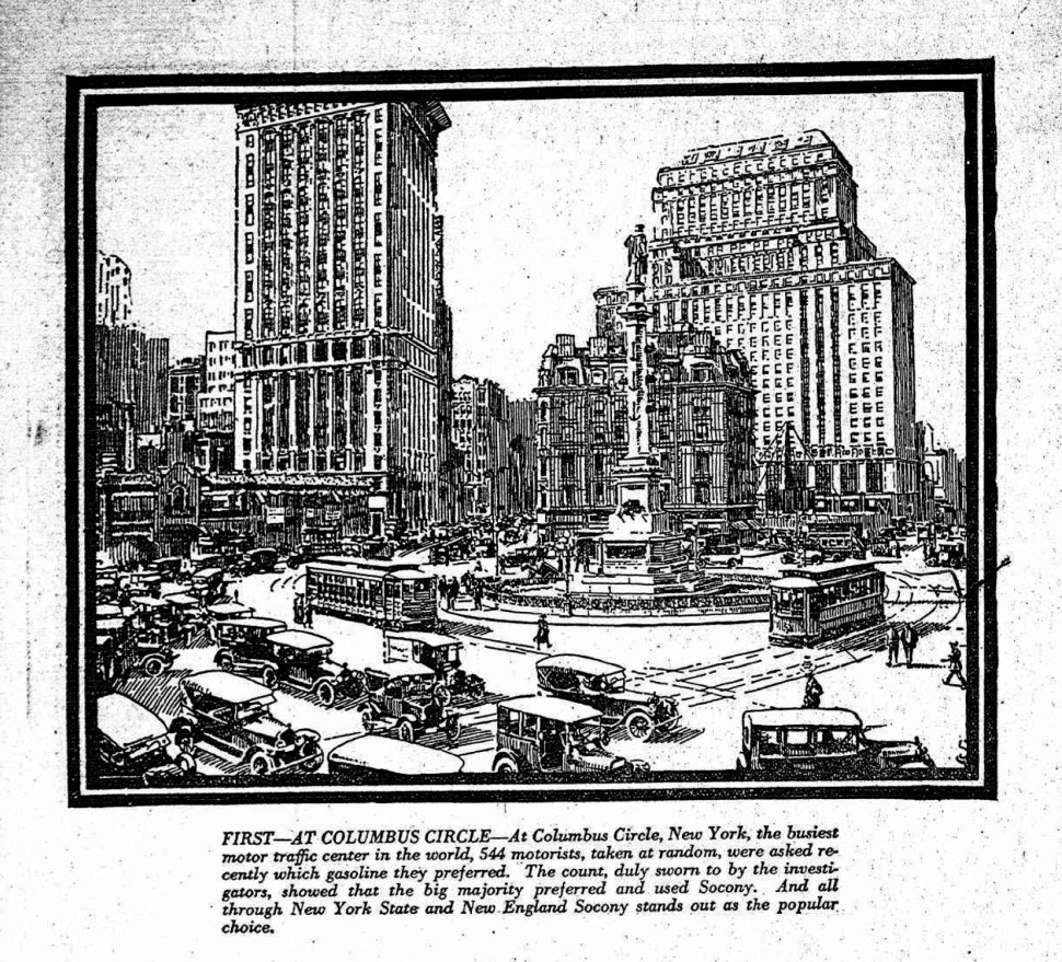 """""""From the Long-Forgotten Archives #1."""" An ad for Socony that appeared in the New York Tribune. July 21, 1922."""