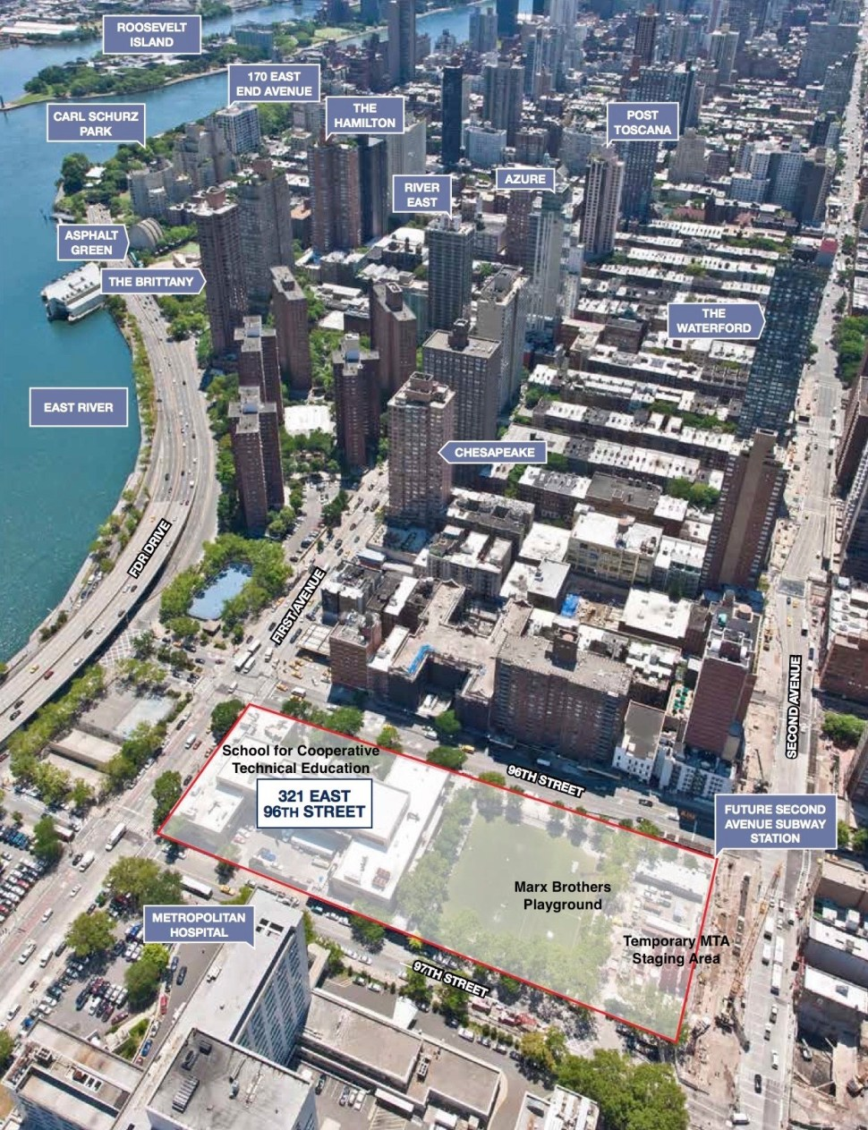 Redevelopment Plan for 321 East 96th Street. From ECF's Request for Expressions of Interest [RFEI]. Photo by the CBRE Group. 2013.