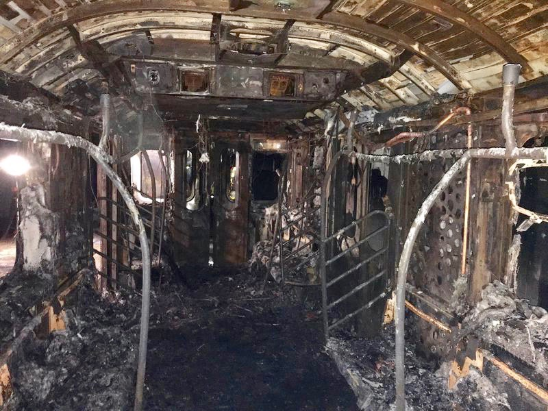 2nd car of the train where the fire started. Courtesy of the New York Daily News. March 27, 2020.