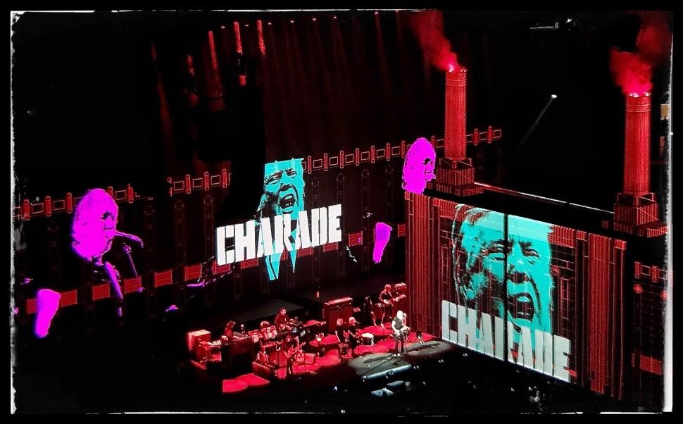 Roger Waters at Barclays Center. Charade Trump. Photo by Rick Stachura. September 12, 2017.