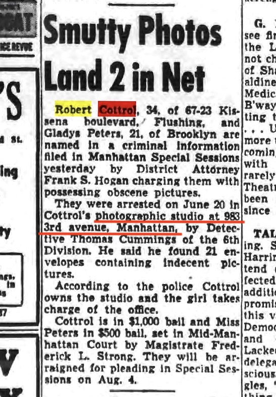 Screenshot by Rick Stachura. Courtesy of fultonhistory.com. As reported in the Long Island Star-Journal. July 25, 1952.
