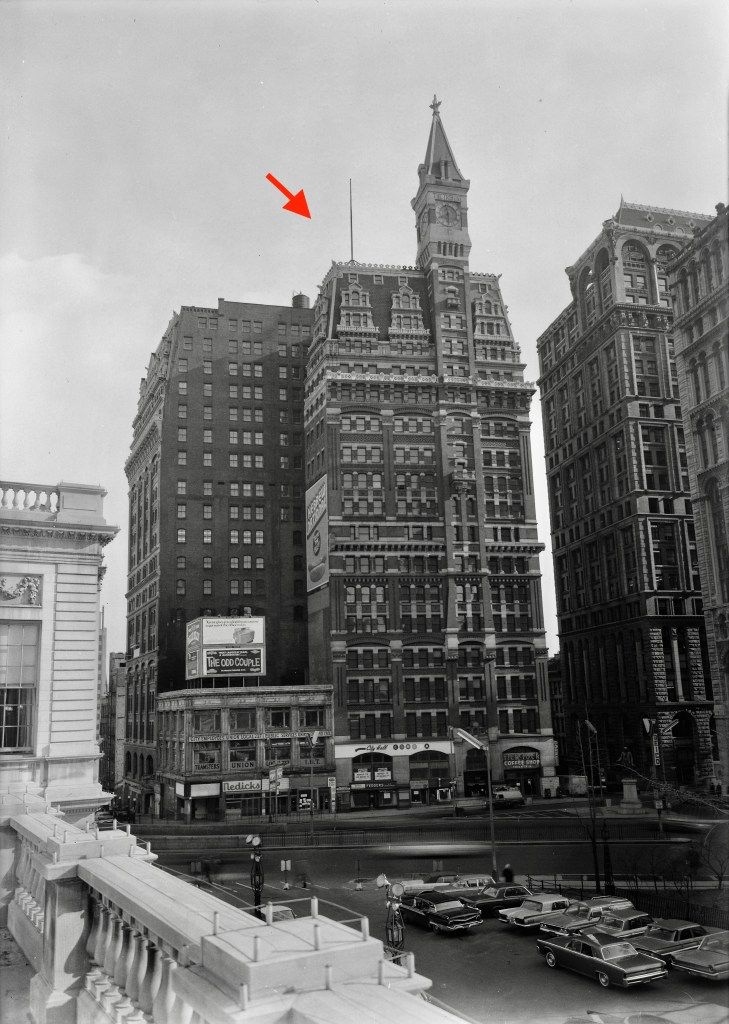 Photo by John Feulner. Tribune Building. From the Library of Congress. 1966.