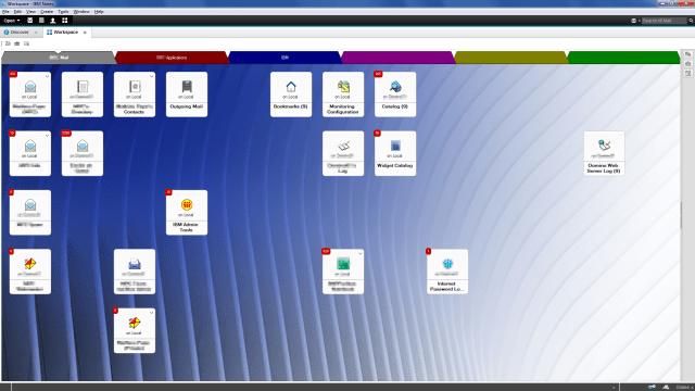 IBM Notes V10 - default workspace