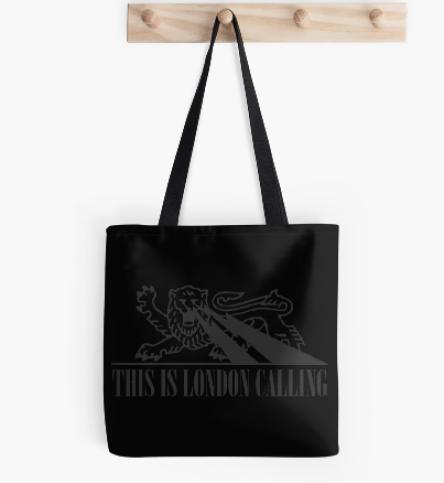 Tote bag with album artwork