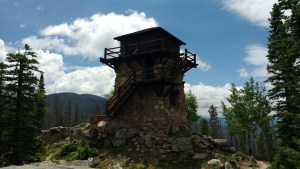 The fire lookout tower on Shadow Mountain, CO.